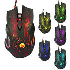 USB Wired LED Backlit Gaming One-Hand Keyboard Adjustable DPI Mouse Combo Q1E6