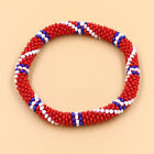 Laura Nepal Bracelet Glass Seed Bead Roll On Crochet Nepal Handmade Bracelets