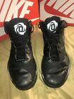 BLACK DERICK ROSE ADIDAS SIZE 9.5 MEN