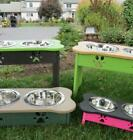 Custom Feeder Elevated LARGE Dog Bowl Stand 225 COLOR COMBOS