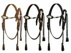 Showman Leather Classic Poco Style Bridle and Reins Horse Tack Equine