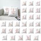 Modern Letter Floral Printed Throw Pillow Case Cushion Cover Wedding Home Decor