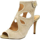 NEW Womens C. Wonder Phoebe Suede Peep Toe Booties Khaki ASO QVC-Pick Size