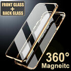 360° Magnetic Adsorption Front+Back Temper Glass Case Cover for i Phone XS Max X