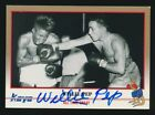 1991 Kayo Boxing #35 WILLIE PEP (Champion-229 Wins) *AUTOGRAPHED* d.2006 *HOF*