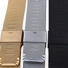 GT- Black Stainless Steel Bracelet Strap Watch Mesh Replacement Band Novelty image