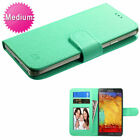 Universal MyJacket Wallet Slim Flap Case ID Card Slot Mint Green For Cell Phones
