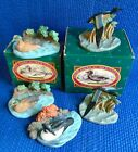 5 AVON NATIVE AMERICAN DUCK COLLECTION Widgeon Blue-Winged Teal GoldenEye 2 box