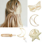 Womens Girls Geometric Metal Hair Clip Hollow Out Hairpin Bridal Hair Accessory