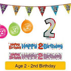 Age 2 - Happy 2nd Birthday Party Balloons Banners & Decorations