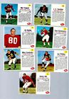 1963 POST FOOTBALL 7 DIF ALL NRMT-MT SHARP CLEAN TRIPLETTE STEELERS CHICAGO BEAR