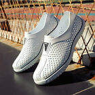 Mens Beach Mesh Slippers Hollow Out Sandals Casual Breathable Hole Water Shoes