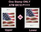 US 5162 Flag forever plate single P1111 (from booklet 18 ATM) MNH 2017