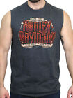Harley-Davidson Mens Hard Core Willie G Skull Charcoal Sleeveless Muscle Shirt $14.99 USD on eBay
