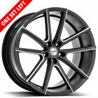 "4/New 22"" Staggered Sporza Wheels V5 Satin Graphite Milled ConNIBve Rims NIB"