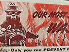 "Vuntage U.S. Dept. of Agriculture ""Only You Can Prevent Forest Fires"" Blotter ."
