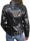 Harley-Davidson 115th Anniversary Womens Black Leather Riding Jacket 98010-18VW $199.99 USD on eBay