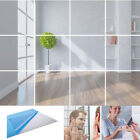 9-32pcs Mirror Tiles Self Adhesive Glass Bathroom/bedroom Wall Stickers Mosaic