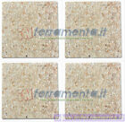 4 Pz Tiles Terrazzo Cement cm 50x50 Thickness 3,5cm 90kg Counterweight Bas