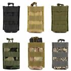 Molle Tactical Single Mag Magazine Pouch Open Top Pistol Cartridge Clip Pouch US