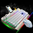 Mechanical Wired Gaming Keyboard and Mouse Set Colorful Backlight For Desktop PC