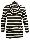 INC Women's Button Detailed Stripe Sweater