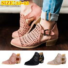 Women  Sandals Flat shoes Comfortable Low Heel Closed Pointed Boot