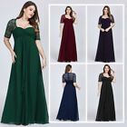 Ever-pretty US Plus Size Half Sleeve Evening Gowns Mother Of Bride Formal Dress