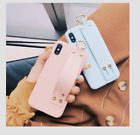 Wristband Bracket Hand Strap Holder TPU Cover Case For Phone XS MAX XR 7 8 Plus