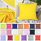 "16x16"" Cotton Soft Solid Color Throw PILLOW COVER Sofa Couch Cushion Case USA image"