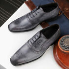 Mens Retro Leather Pointerd Toe Comfort Flats Business Cross Strappy Dress Shoes