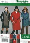 Simplicity 1015 Pattern COAT JACKET RAINCOAT SEPARATE BUTTON-OUT LINED PLUS 6-24