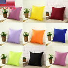 Vintage Pure Color Pillow Case Car Throw Sofa Waist Cushion Cover 40X40CM - US image