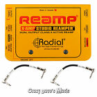 Radial X-Amp Active Re-Amper Re-Amplifier XAMP R800 1028 NEW w 2 Patch Cables