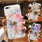 For Phone XS Max XR 6s 7 8 Flower Diamond Ring Stand Holder Soft TPU Case Cover