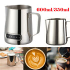 600/350ML Milk Frothing Jug Frother Coffee Latte Pitcher With Thermometer