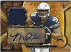 MANTI T'EO AUTOGRAPH JERSEY RC CHARGERS  MINT #7/25 TIRPLE THREADS TOPPS