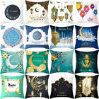 Muslim Ramadan Pattern Polyester Cushion Cover Pillow Case Home Decor  F