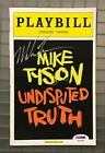 Mike Tyson Signed UNDISPUTED TRUTH Playbill Program AUTO PSA/DNA Sticker ONLY