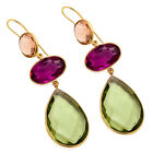 Hydro Multi Colour Gemstone Gold Plated Super Duper Hot Wedding/Party Earring