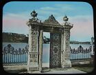 Glass Magic Lantern Slide GATE OF THE WATER KIOSQUE C1890 OLD PHOTO ISTANBUL