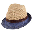 Christys Hats Truro Straw Trilby - Natural-Blue