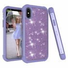"""Cute Girly Glitter Bling Rubber Protective Case Cover For Apple iPhone X XS 5.8"""""""