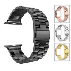 For iWatch Apple Watch Series 3 2 1 42mm Stainless Steel Wrist Band Strap Black image