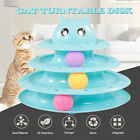 3 Layers Cat Track Toy Tower Track Toy Interactive Trilaminar Turntable R4E7