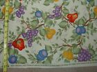VTG DAISY KINGDOM Donna Dewberry Large Overall Fruit 1 YD BTY Cotton Fabric