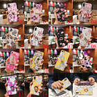 For Phone XS Max XR 6 7 8 Plus X Flower Ring Holder Stand Rubber TPU Case Cover