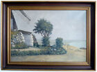 Windmill at Bodden, Impresionist, 1935 Signed: Hard Readable 35 Oil on Lein