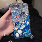 Bling Crystals Personalized Sea Beach Diamonds Soft back Phone Case For Huawei B