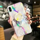 Laser Marble Holder Stand Shockproof Case Cover For Phone XS Max XR 6S 7 8 Plus